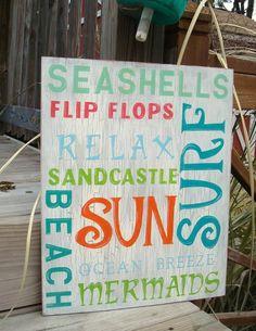 seashells, flip flops, relax, sandcastle, beach, sun, surf, mermaids