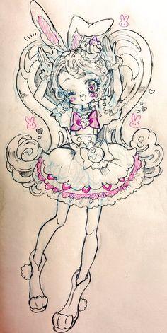 埋め込み Glitter Art, Glitter Force, Futari Wa Pretty Cure, Anime Halloween, Girl Sketch, Kawaii Art, Character Design References, Magical Girl, Traditional Art