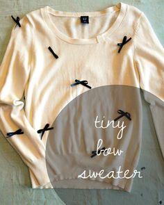 e plus l.: tiny bow sweater DIY