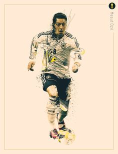 World Cup 2014 - Creative Portraits by Jonathan Rudolph, via Behance