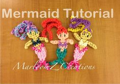 Rainbow Loom Ariel / Mermaid Doll or Charm - Original Design.  Laura is at minute 21 of the tutorial.
