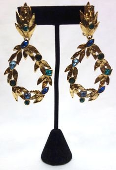 Vintage YSL Yves Saint Laurent Gilt and Faceted by Vintageables