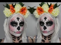 Sexy Sugar Skull Makeup Tutorial & Costume (Day of the Dead Halloween Ma...
