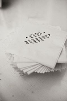 Fun Fact Napkins by Kasey Hamel Design
