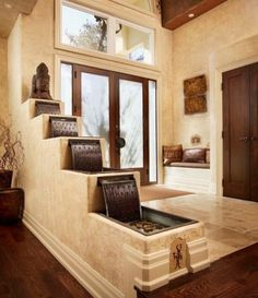 Waterfall system at home entrance