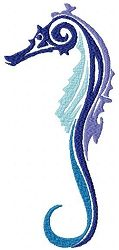 Tribal Ombre Animals 5, Seahorse - 3 Sizes | What's New | Machine Embroidery Designs | SWAKembroidery.com Sealed With A Stitch
