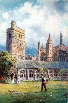 Postcards of the Past - Oxford University, New College