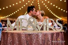 Mr & Mrs Wedding Signs for Table in Gatsby Style for 1920s Flapper Style Sweetheart Table Decor - Great Gatsby Wedding ( Item - MBG200 )