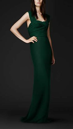 Wrapped Bodice Evening Gown