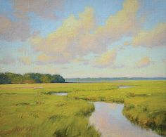 """""""August Marsh"""" by Michael B. Karas. See more of his works at his one-man show in Charleston Nov. 9!"""