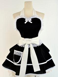 Bestellen-Französisch Maid Kostüm Schürze gemacht