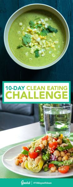 Our Clean Eating Dinner Challenge! Join Greatist s Clean Eating Dinner Challenge!Join Greatist s Clean Eating Dinner Challenge! Clean Eating Plans, Clean Eating Challenge, Clean Eating Dinner, Clean Eating Recipes, Healthy Dinner Recipes, Healthy Snacks, Cooking Recipes, Delicious Recipes, Clean Meals