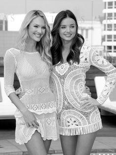 Candice Swanepoel and Miranda Kerr