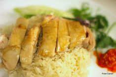 The Food Canon - Inspiring Home Cooks: Perfecting Hainanese Chicken Rice at home using the Sous Vide method Hainanese Chicken Rice Recipe, Chicken Rice Recipes, Steamed Chicken, Hainanese Rice, Singapore Chicken Rice, Malaysian Cuisine, Authentic Chinese Recipes, Asian Cooking, Thai Cooking