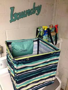 Thirty-One Square Bin plus a Pocket-A-Tote