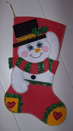 Finished Bucilla Hand Made Felted Christmas Stocking por Topinab