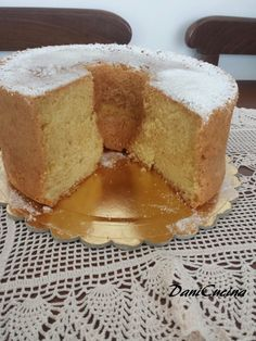 chiffon cake Torta Chiffon, Vanilla Cake, Cheesecake, Food And Drink, Menu, Baking, Desserts, Cakes, Per Diem