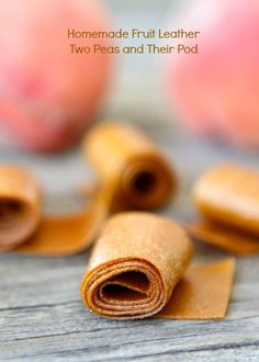Homemade Fruit Leather Recipe | Homemade Fruit Roll-Ups | Two Peas & Their Pod