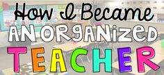 Great ideas and strategies to organize elementary classroom!
