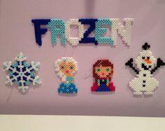 Disney Frozen perler bead Christmas Ornament set with Elsa, Anna, Olaf & more