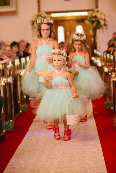 Mint Flower Girl Dress via Etsy