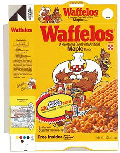 Waffelos Cereal Box Flat Wacky Packs