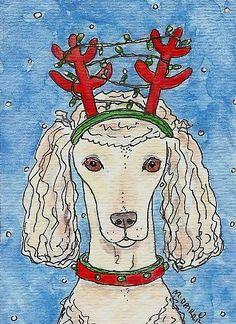Poodle reindeer.
