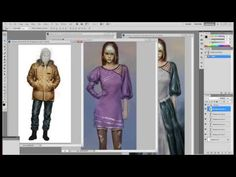 Painting clothes with Photoshop - 1 - YouTube