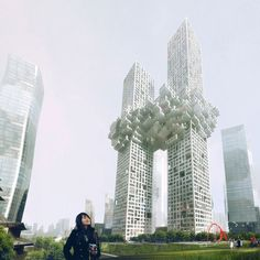 "MVRDV's ""the cloud,"" a new building design in Seoul, Korea"