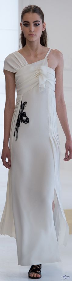 Fall 2016 Haute Couture - Christian Dior white long dress @roressclothes closet ideas #women fashion outfit #clothing style apparel