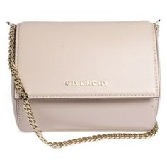 GIVENCHY Micro Pandora Box Leather Clutch ($994) ❤ liked on Polyvore featuring bags, handbags, clutches, bolsas, purses, pink leather handbags, pink clutches, genuine leather handbags, pink purse and givenchy handbags
