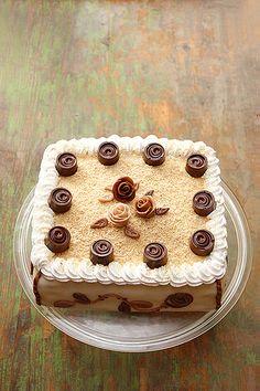 Rose cake filled coffee buttercream