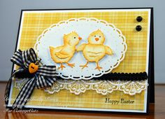Kathy Roney: Joyfully Made Designs for CottageBLOG: Lil' Spring Chicks - 4/12/14.  (Dies: Lil' Spring Chicks; Oval Doil & Frame).  (Pin#1: Dies: Cottage Cutz. Pin+: Easter: Chicks/ Ducks)