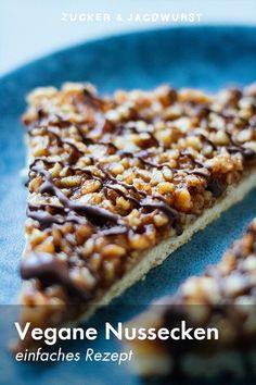 Vegane Nussecken - Zucker&Jagdwurst - My list of the most healthy food recipes Desserts Végétaliens, Dessert Recipes, Cake Recipes, Easter Recipes, Clean Eating Recipes, Clean Eating Snacks, Bolo Vegan, Snacks Sains, Vegan Treats
