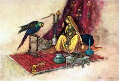 ''Indian Myth and Legend'' by Donald. A. MacKenzie. Published by The Gresham Publishing co.(London).1913, Illustrations by Warwick Goble