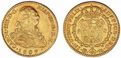 2 GOLD ESCUDOS/ORO. CHARLES IV-CARLOS IV. MADRID 1807 FA. XF-/EBC-. INTERESANTE.