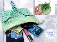 Nature's Palette by Marjolein Bastin for FreeSpirit: Fold-over, Zipper Top Purse | Sew4Home