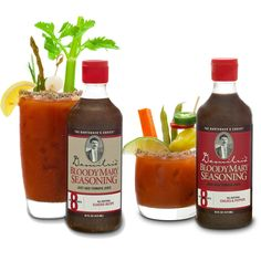 Demitri's Bloody Mary Mix. Damn, those look tasty...