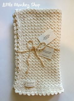 """""""This baby blanket pattern is perfect for a beginner to crochet their first baby blanket. Crochet Pattern for The Pure and Simple Baby Blanket - An Heirloom Crib size blanket - 30\"""" X 36\"""" with instruction on how to adjust the blanket size. Perfect for a baby shower gift or that precious newborn in your life. The simple, vintage look works well for baby boys or baby girls. This is a PDF CROCHET PATTERN for The Pure and Simple Baby Blanket * NOT * the actual finished item. This pattern will be av Crochet For Beginners Blanket, Crochet Patterns For Beginners, Baby Blanket Crochet, Easy Baby Blanket, Beginner Crochet, Crochet Blankets, Cotton Crochet Patterns, Baby Afghan Patterns, Crochet Monkey"""