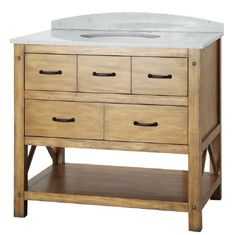 Foremost AVHOS3622 Avondale 36 in. Vanity Cabinet Only in Weathered Pine