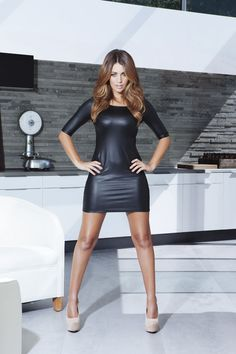 Holly Peers, smoking hot in a black mini! Sexy Outfits, Sexy Dresses, Little Dresses, Tight Dresses, Holly Peers, Hot Dress, Dress Skirt, Bodycon Dress, Glamour