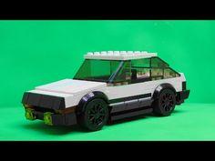 Lego Hachiroku from Initial-D Lego Truck, Lego Car, Cool Lego, Awesome Lego, Lego Wheels, Initial D, Lego Worlds, Ae86, Lego Design