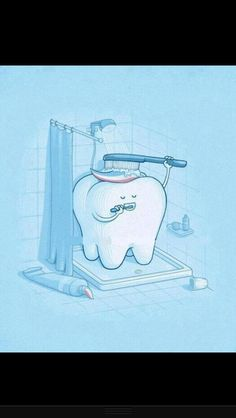 Dental humour clean tooth
