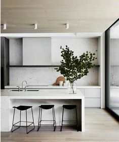 9 Thankful Cool Ideas: Minimalist Kitchen Design Grey minimalist home white simple bedrooms.Minimalist Home Living Room Fireplaces minimalist interior design apartment.Minimalist Home White Simple Bedrooms. Interior Minimalista, Home Interior, Interior Design Kitchen, Apartment Interior, Modern Kitchen Designs, Interior Ideas, Ikea Interior, Interior Livingroom, Design Bathroom