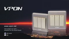 New design with brushed aluminium cover! VPON electric wall switch & sockets