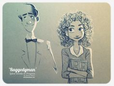 Raggedyman by James Hance. I'm so in love with this Paperman/Doctor Who art! (And I could only repin his unfinished version for right now so please visit his tumblr for the final one)