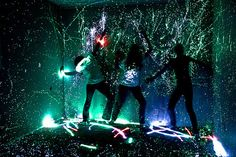 i also wanna do this; break the glow sticks open and spray 'em around the room!