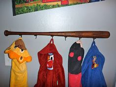 Make your own baseball bat rack! Quick and inexpensive project.