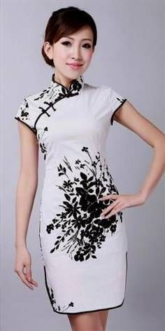 Cool white chinese dress 2017-2018