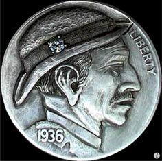 Keith Pedersen Hobo Nickel, Buffalo, Classic Style, Coins, Rings For Men, Artwork, Men Rings, Work Of Art, Rooms